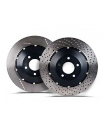 Nissan GT-R R35 Stoptech 09-11 Rear AeroRotor Two-Piece Rotors - Zinc Drilled - Left