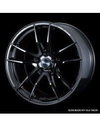 WedsSport RN-55M 18x10 5x114.3 ET18 Wheel- Gloss Black