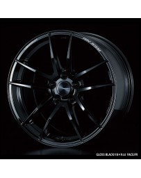 WedsSport RN-55M 18x8.5 5x114.3 ET52 Wheel- Gloss Black