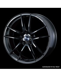 WedsSport RN-55M 19x9.5 5x114.3 ET28 Wheel- Gloss Black