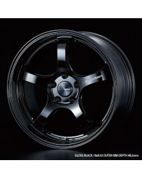 WedsSport RN-05M 18x9 5x112 ET50 Wheel- Gloss Black