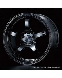 WedsSport RN-05M 18x8.5 5x114.3 ET38 Wheel- Gloss Black