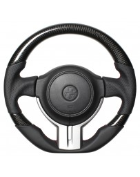 Toyota GT86 REAL JAPAN Steering wheel - Black Carbon 3C - Black & Red Euro Stitch