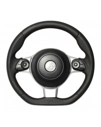 Toyota GT86 REAL JAPAN Steering wheel - All leather - Red & Black Euro Stitch