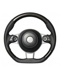 Toyota GT86 REAL JAPAN Steering wheel - Black carbon - Black euro stitch