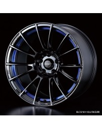 WedsSport SA-72R 17x7 4x100 ET43 Wheel- Blue Light Chrome Black