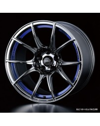 WedsSport SA-10R 18x9.5 5x114.3 ET38 Wheel- Blue Light Chrome Black
