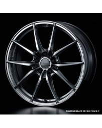 WedsSport FT-117 20x9.5 5x114.3 ET48 Wheel- Diamond Black