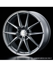 WedsSport FT-117 20x9 5x112 ET48 Wheel- Diamond Silver