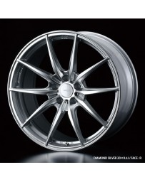 WedsSport FT-117 20x10 5x120 ET25 Wheel- Diamond Silver