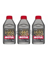 Nissan GT-R R35 Motul RBF 660 Racing Brake Fluid, DOT 4 - 3 Pack