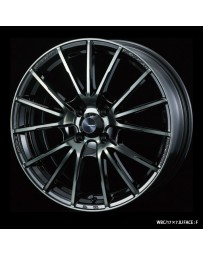 WedsSport SA-35R 17x7 4x100 ET50 Wheel- Weds Black Chrome