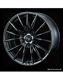 WedsSport SA-35R 18x7 5x114.3 ET47 Wheel- Weds Black Chrome