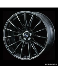 WedsSport SA-35R 18x9.5 5x114.3 ET45 Wheel- Weds Black Chrome