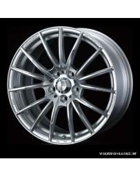 WedsSport SA-35R 17x7 5x114.3 ET48 Wheel- Silver
