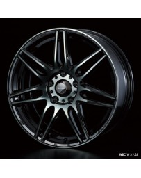 WedsSport SA-77R 17x7 5x100 ET45 Wheel- Weds Black Chrome