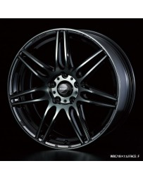 WedsSport SA-77R 18x7.5 5x100 ET45 Wheel- Weds Black Chrome