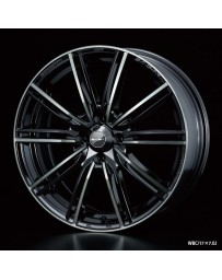 WedsSport SA-54R 17x7.5 5x100 ET48 Wheel- Weds Black Chrome