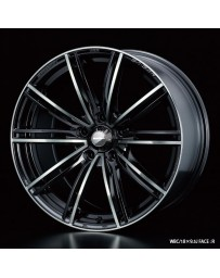 WedsSport SA-54R 18x9.5 5x114.3 ET38 Wheel- Weds Black Chrome