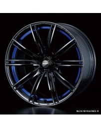 WedsSport SA-54R 17x7 4x100 ET50 Wheel- Blue Light Chrome Black