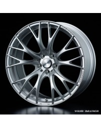 WedsSport SA-20R 19x9.5 5X114.3 ET48 Wheel- Silver