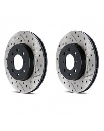 Toyota GT86 StopTech Cryo Discs - Rear pair - DRILLED & SLOTTED