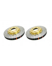 Toyota GT86 DBA 4000 Series Discs - Front pair - DRILLED & SLOTTED
