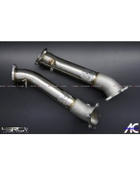 "4 Second Racing Club Nissan GT R35 3"" stainless and casting down pipes for 2008-2017"