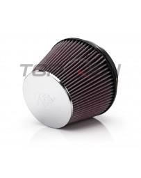 370z K&N Reusable High Flow Air Filter, Chrome, Universal