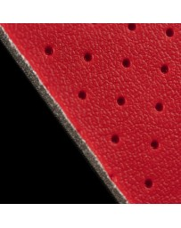 BRAUM RED PERFORATED LEATHERETTE MATERIAL