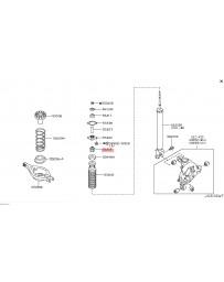 350z Nissan OEM Shock Absorber Rear Mount Bushing