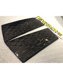350z EVO-R Carbon Fiber B-Pillar Cover, Honeycomb Weave
