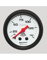 Nissan GT-R R35 AutoMeter Phantom Mechanical Oil Pressure Gauge 150 PSI - 52mm
