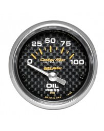 Nissan GT-R R35 AutoMeter Carbon Fiber Electronic Oil Pressure Gauge 100 PSI - 52mm
