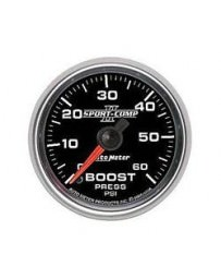 Nissan GT-R R35 AutoMeter Sport-Comp II Mechanical Boost Gauge 60 PSI - 52mm