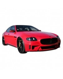 VIS Racing 2005-2007 Maserati Quattroporte Vip Kit with carbon accent.