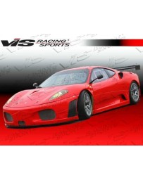 VIS Racing 2005-2009 Ferrari F430 Gt2 Style Front Bumper With Carbon Side Louvers