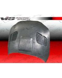 VIS Racing 2004-2010 Bmw 5 Series E60 4Dr Gtr Titanium Silver Carbon Fiber Hood