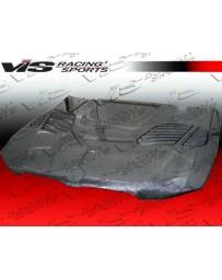 VIS Racing 2007-2010 Bmw 3 Series E92 2Dr Gtr Style Titanium Silver Carbon Fiber Hood