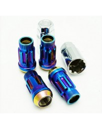 350z Muteki SR45R Lock Set (12x1.25mm, Burned Blue Neon)