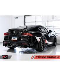 "Toyota Supra GR A90 AWE Tuning Track Edition Exhaust 5"" Diamond Black Tips"