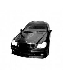 VIS Racing Carbon Fiber Hood OEM Style for Mercedes C-Class 4DR 01-07