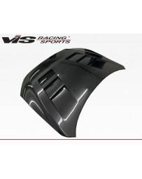 VIS Racing Carbon Fiber Hood Terminator Style for Mitsubishi Lancer 4DR 08-16