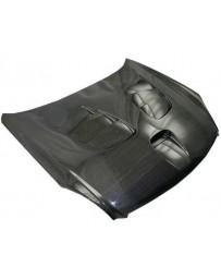 VIS Racing Carbon Fiber Hood Fuzion Style for Infiniti G35 2DR 03-07