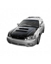 VIS Racing Carbon Fiber Hood V Line Style for Subaru Legacy 4DR 00-04