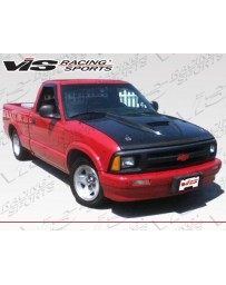 VIS Racing Carbon Fiber Hood Ram Air Style for Chevrolet S10 2DR 94-04