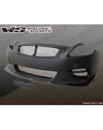 VIS Racing 2008-2013 Infiniti G37 2Dr Zelda Front Bumper With Carbon Lip