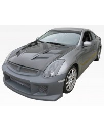 VIS Racing Carbon Fiber Hood AMS Style for Infiniti G35 2DR 03-07