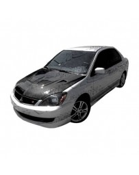 VIS Racing Carbon Fiber Hood EVO Style for Mitsubishi Lancer 4DR 04-07