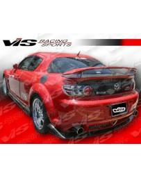 VIS Racing Carbon Fiber Spoiler Magnum Style for Mazda RX8 2DR 04-08